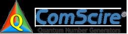 ComScire logo cerulean blue